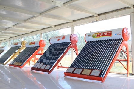 solar water heater parts in a hall