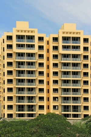high rise building in the blue sky, north china  Stock Photo - 19256567