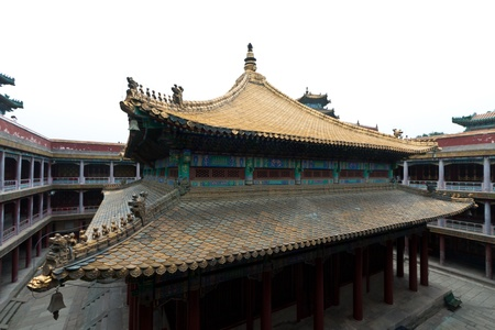 Tibetan hall in landscape architecture of an ancient temple, Chengde, Mountain Resort, north china Stock Photo - 19259920