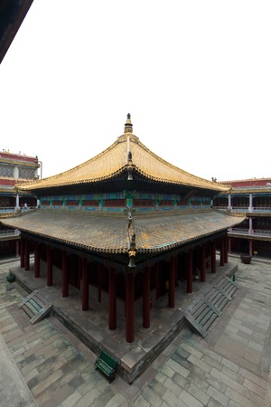 Tibetan hall in landscape architecture of an ancient temple, Chengde, Mountain Resort, north china Stock Photo - 19259919