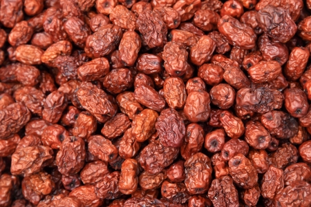 closeup of pictures, piles of red jujube photo