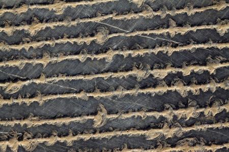 岩、クローズ アップの写真の上で彫刻のトレース 写真素材