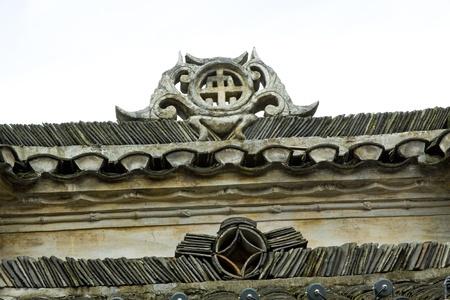 Phoenix County, Miao ethnic minority roof building landscape, Phoenix County, Hunan Province, China 免版税图像