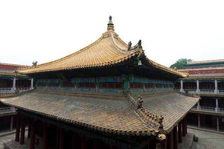 Tibetan hall in landscape architecture of an ancient temple, Chengde, Mountain Resort, north china Stock Photo - 19545940