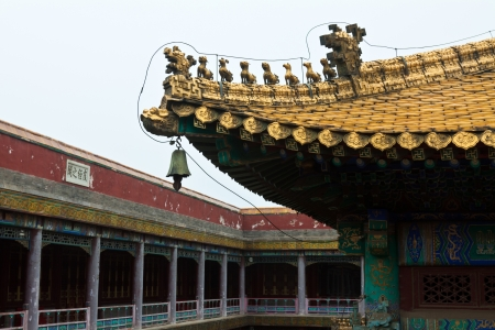 Tibetan hall in landscape architecture of an ancient temple, Chengde, Mountain Resort, north china