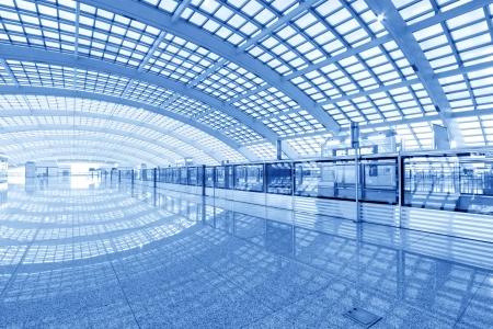 scene of T3 airport building in beijing in china