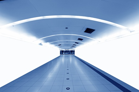 defense facilities: bright underground passage, in a subway station, Beijing