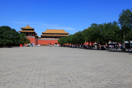 ancient Chinese traditional architectural landscape in the Imperial Palace, Beijing