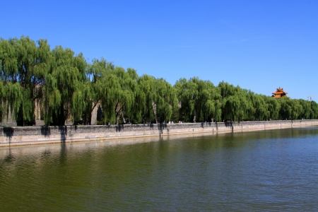 the humanities landscape: Jinshui River scenery, the important water source of the Forbidden City, Beijing Stock Photo