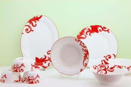 exquisite: exquisite works, ceramic crafts tableware Stock Photo