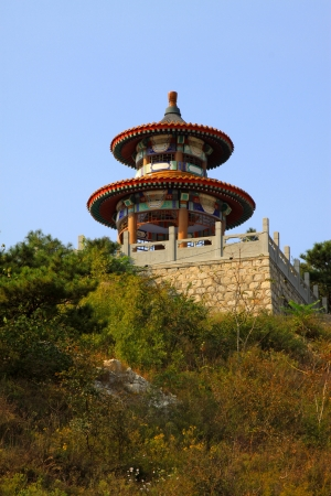 the humanities landscape: Religious architecture landscape in a temple, China