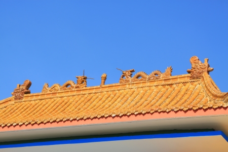 housetop: ancient chinese architecture housetop in beijing, china