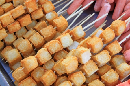characteristics: chinese Characteristics food, fried bean curd, closeup of delicacy