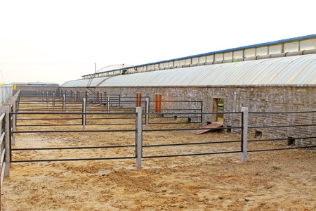 sheepfold: empty sheepfold landscape in rural areas, north china Stock Photo
