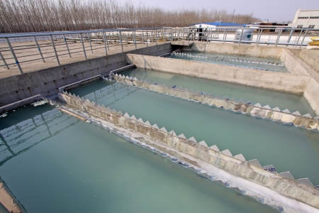 Luannan County, March 6  Sewage treatment plant closeup in an industrial enterprise, on March 6, 2012, Luannan County, Hebei Province, China Stock Photo - 20578325