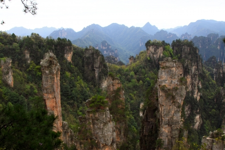 hunan: Zhangjiajie City, April 13  TianZi Mountain natural scenery on April 13, 2012, Zhangjiajie City, Hunan, China