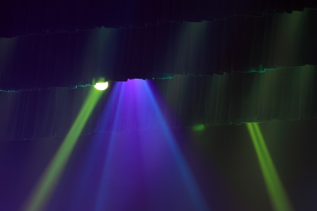 stage lighting effect in the darkness photo