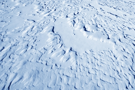 pattern in the snow, in a ice river, north China photo