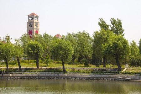 tangshan city: South Lake Park Scenery, Tangshan City, Hebei Province, China