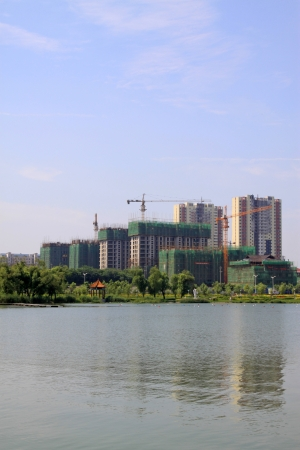 unfinished building: unfinished building in a park, northern China