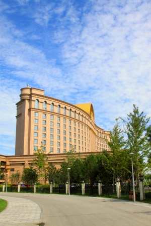 greening: Luxury building under the blue sky, China Editorial