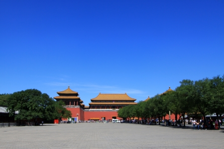 ancient Chinese traditional architectural landscape in the Imperial Palace, Beijing Stock Photo - 21100352