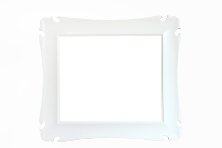 wall mirror: classic wall mirror, isolated on white background Stock Photo