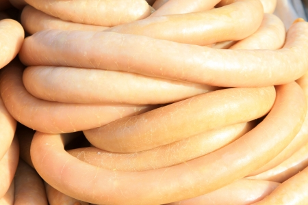 casings: a kind of features snacks, close up of delicacy. outside is the casing, the internal is the meat, very good local snacks.