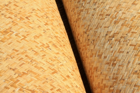 traditional goods: Chinese traditional handmade goods-- reed mats, closeup of photo