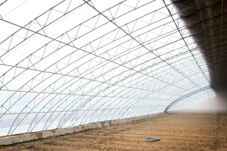 vegetable greenhouse interior landscape in rural areas, north china Stock Photo - 21231606