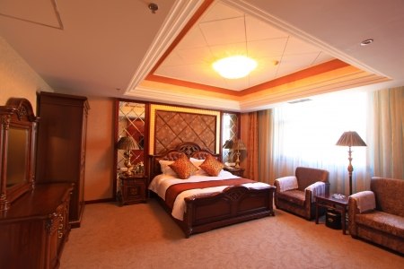 A variety of furniture in a superior room in a hotel  Stock Photo - 21252320