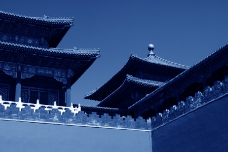 ancient Chinese traditional architectural landscape in the Imperial Palace, Beijing Stock Photo - 21273868