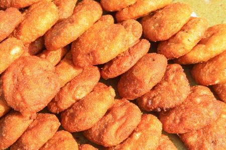 characteristics: Characteristics food -- fried rice cake, closeup of delicacy