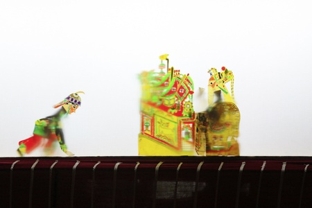 repertoire: LUANNAN - MAY 15: Performance of traditional shadow play on May 15, 2013, Luannan, Hebei Province, china.  Editorial