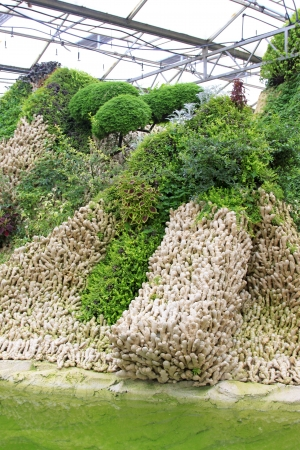 pollution free: SHOUGUANG - MAY 17: Pockery piled up by gingers in a park on May 17, 2013, Shouguang, Shandong Province, China