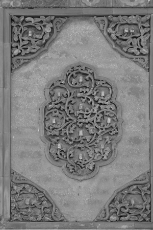 ZUNHUA - MAY 11: Glazed tile decoration in the Eastern Royal Tombs of the Qing Dynasty on May 11, 2013, Zunhua, Hebei Province, china.