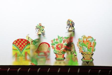 repertoire: Luannan - mei 15: Prestaties van traditionele schaduwspel op 15 mei 2013, Luannan, Hebei Province, china.