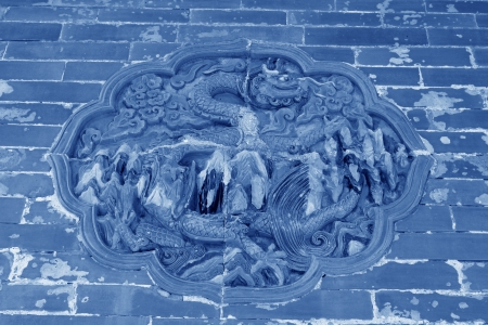 ZUNHUA - MAY 11: Dragon and Phoenix Gate glazed tile decoration in the Eastern Royal Tombs of the Qing Dynasty on May 11, 2013, Zunhua, Hebei Province, china.
