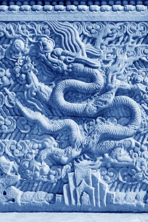 ZUNHUA - MAY 11: Dragon carved in white marble rock in the Eastern Royal Tombs of the Qing Dynasty on May 11, 2013, Zunhua, Hebei Province, china.