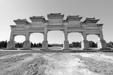 ZUNHUA - MAY 11: The Great Stone arch in the Eastern Royal Tombs of the Qing Dynasty on May 11, 2013, Zunhua, Hebei Province, china. Stock Photo - 22947207