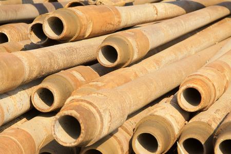 oxidation rusty metal pipe, closeup of photo Stock Photo - 26669861