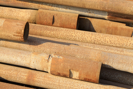 oxidation rusty metal pipe, closeup of photo Stock Photo - 26669863