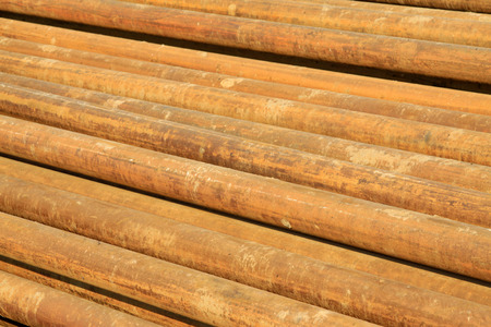 oxidation rusty metal pipe, closeup of photo Stock Photo - 26754307