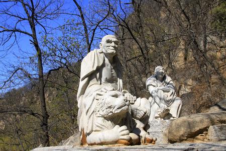 arhat: JI COUNTY - APRIL 5: arhat sculpture in the Panshan Mountain scenic spot, April 5, 2014, ji county, tianjin, China.   Editorial