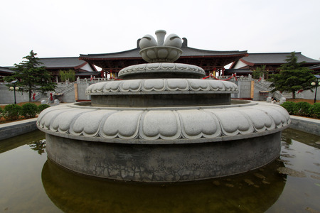 hebei province: TANGSHAN - MAY 10: Rock sculptures in Xingguo temple on May 10, 2014, tangshan city, hebei province, China.