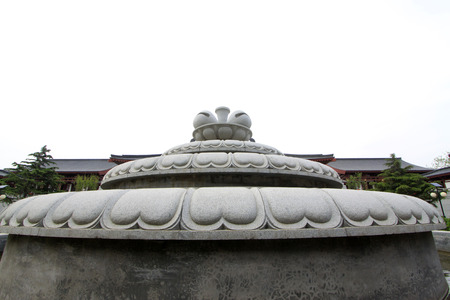 hebei: TANGSHAN - MAY 10: Rock sculptures in Xingguo temple on May 10, 2014, tangshan city, hebei province, China.