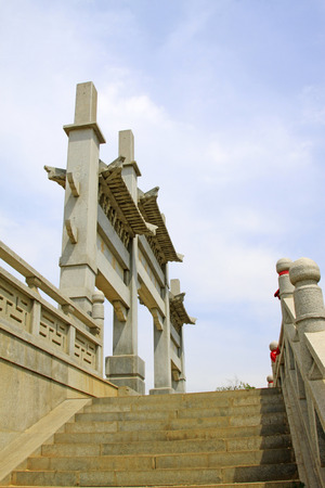 hebei: Stone arch in Xingguo temple, tangshan city, hebei province, China.