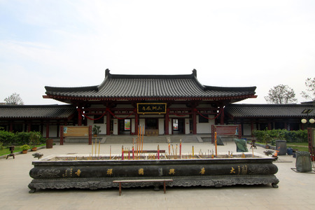hebei province: Hall of heavenly kings in Xingguo temple, tangshan city, hebei province, China.
