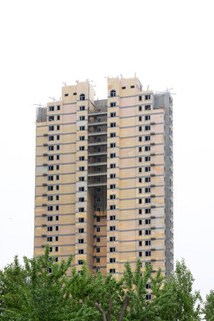 uncompleted: Uncompleted residential buildings, closeup of photo