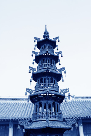 YUTIAN MAY 18:Incense burner building scenery Jijue Temple on may 18, 2014, Yutian county, Hebei Province, China.